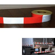 Details about  Retro Reflective Adhesive Truck Tape Red White Warning Safetly Stripe 50mm Wide