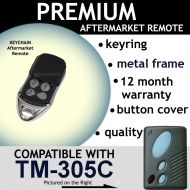 Garage Door Remote Control Compatible with GLIDEROL TM-305C & Remote King / Mr Minit RCG01A