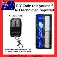 A. Remote Compatible with Accent Garage Doors 9 Switch White Buttons 062171 / 4332EBD 1A5097