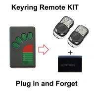 Garage Door Remote KIT Compatible with ATA Green Button TX-4A TX-4 TX4 TX04 N1854