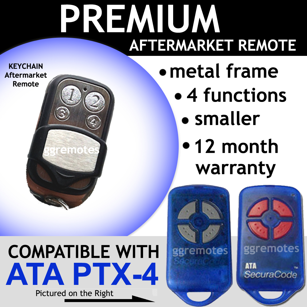 Garage Door Remote Control Compatible with ATA PTX-4