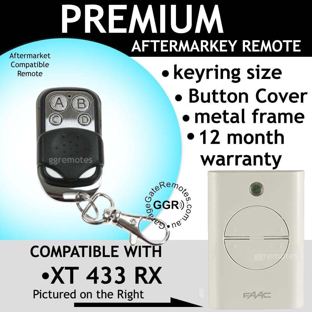 Remote Control Compatible with White FAAC XT 433 RX 787452