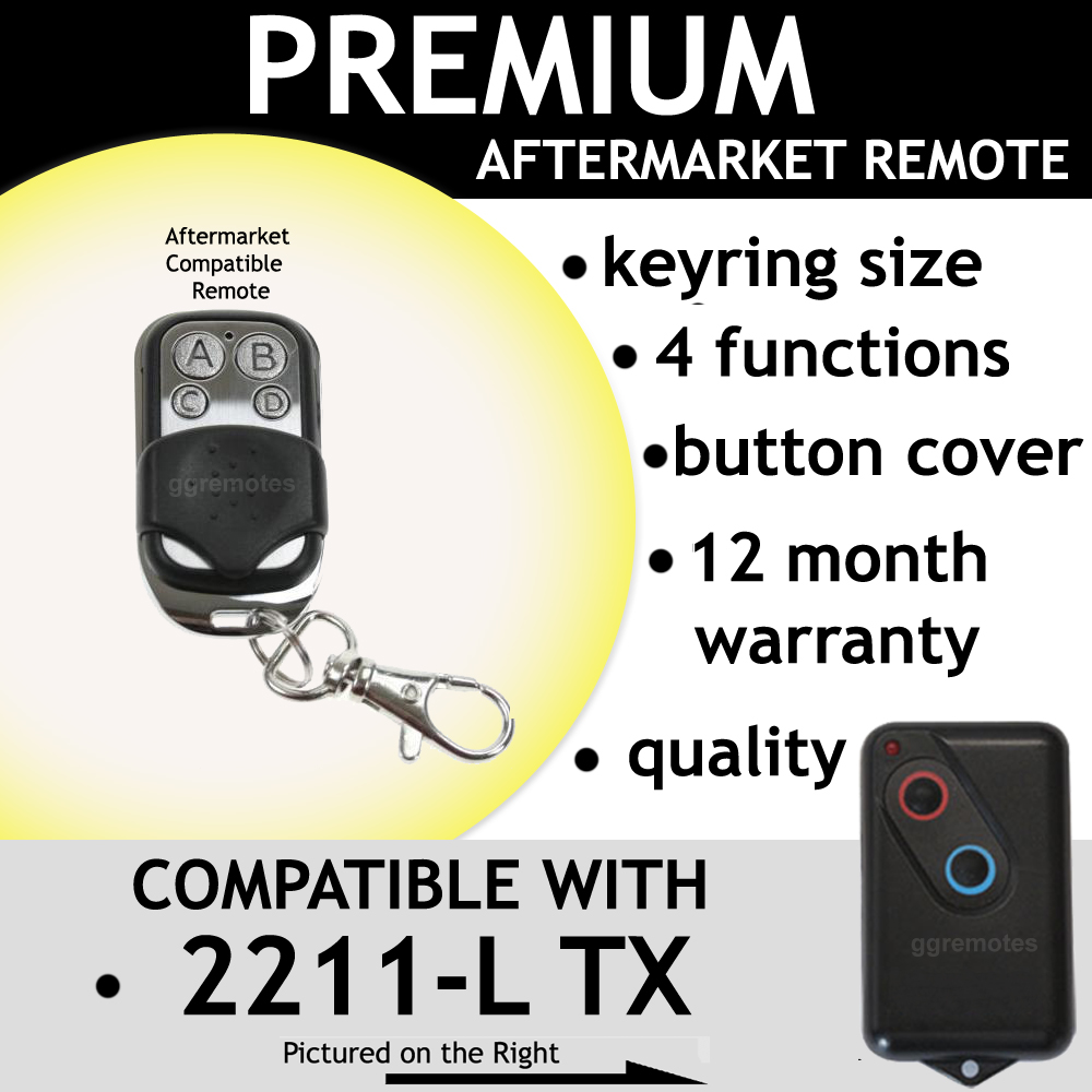 Garage Remote Control Compatible With BOSS BHT4 HT4 2211-L (TX)