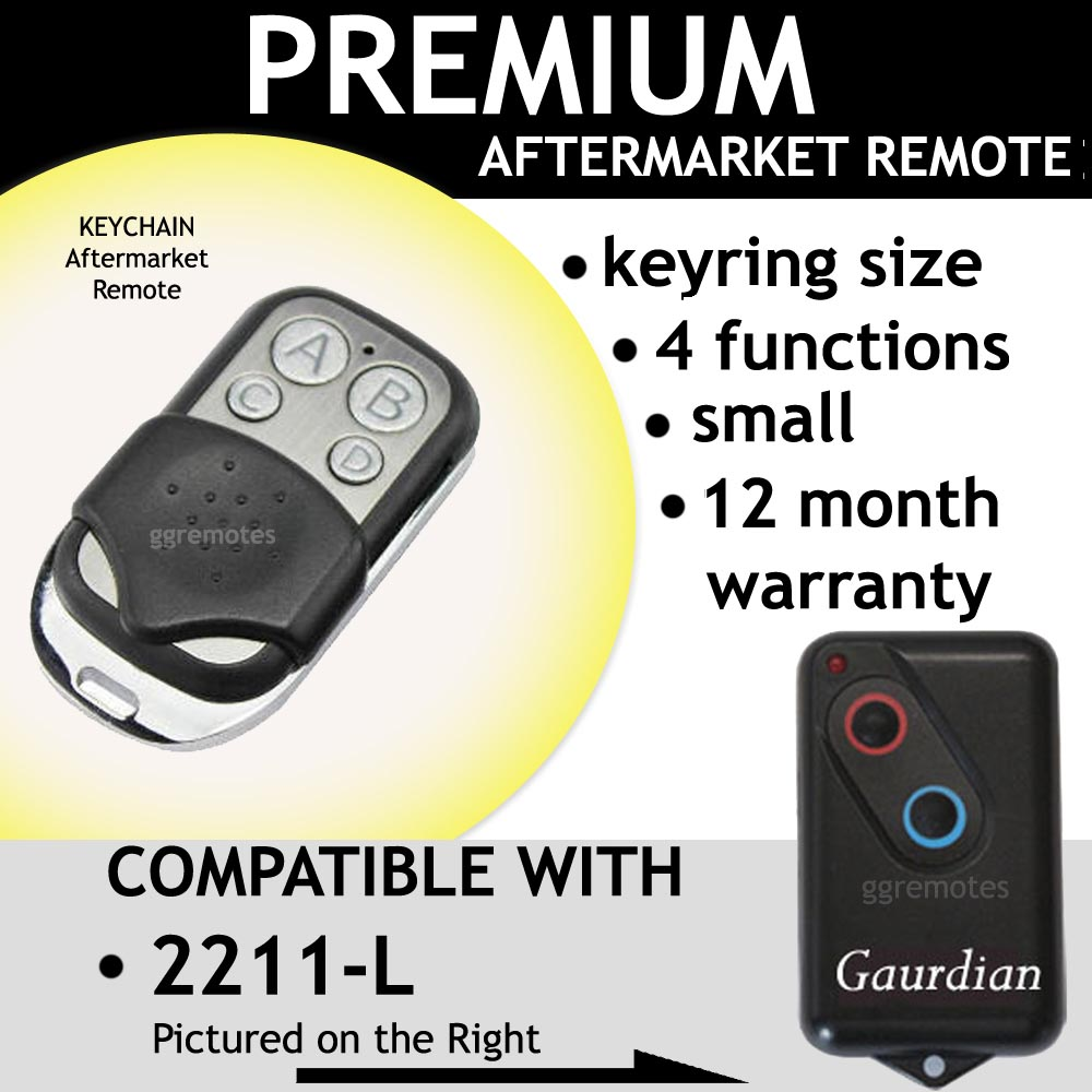 Garage Remote Control Opener Compatible With Guardian 21230 21230l